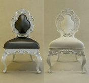 欧式新巴洛克式椅子模型