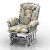白色休闲椅子模型