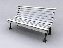 灰色休闲椅子模型