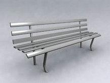 灰色简单的椅子模型