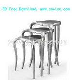 家庭实用椅子3D模型(含材质)