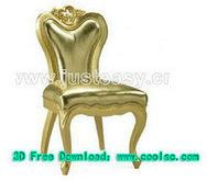 新古典椅子3D模型(含材质)
