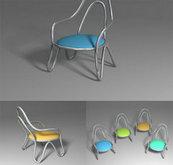 流线型小椅子3D模型