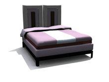 现代时尚干净大方双人床