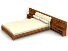现代传统实木床