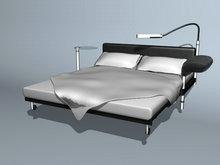欧式时尚风格双人床