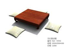 深木色方形泰式榻坐垫组合
