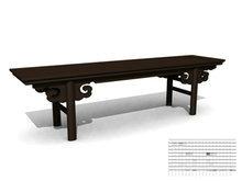 古典长条春凳