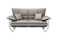 浅色双人沙发模型