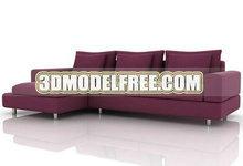 酱紫色沙发3D模型