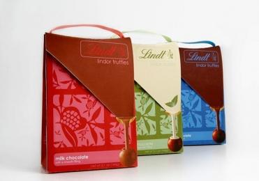 瑞士lindt巧克力奶糖包装设计欣赏