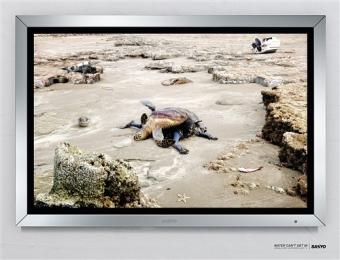 SANYO(三洋)防水液晶电视广告设计