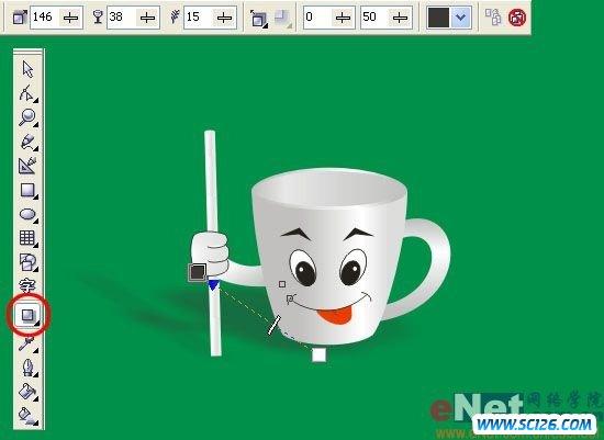 Coreldraw打造可爱俏皮的卡通杯子