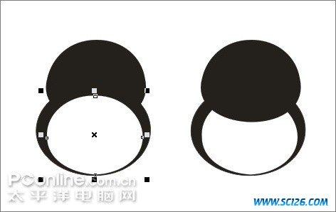 Coreldraw教程:绘制可爱的情侣QQ企鹅