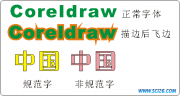 CorelDraw字体轮廓线交叉引发问题