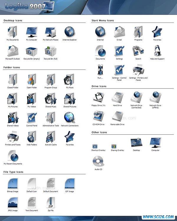 Logika 2007 Icons设计