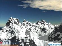 3DS MAX9.0教程:巍峨连绵的雪山