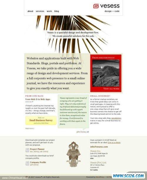 新鲜视觉 非常规网页设计作品欣赏