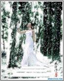 ps打造雪景婚纱照片