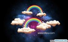 PS打造漂亮彩虹星空