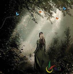 PS快速合成密林深处的公主