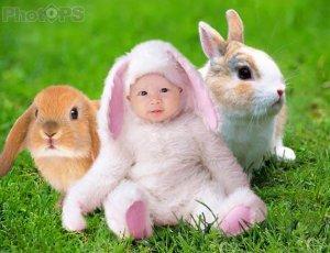 PS快速给可爱宝宝换头像和背景
