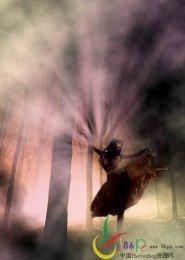 PS合成森林里舞者教程