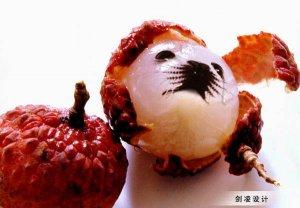 PS合成漂亮的水果海豹脸型