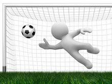 足球球门3D守门员图片素材