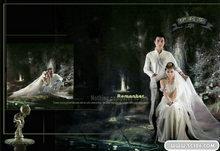 伊利莎PSD婚纱模板(封面)
