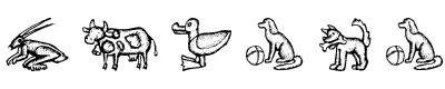 素描动物字体(Zoo Woodcuts M)