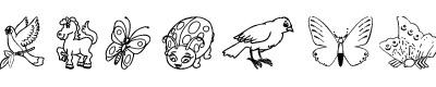 昆虫字体(CRITDers1dcsemibold)