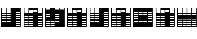 日本数码字(katakana block)