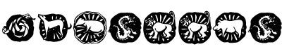 亚洲图案字(KR Chinese Zodiac)