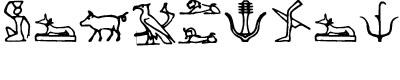 古埃及图案字体(Hieroglify)