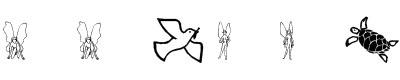 鸟类字体(SL Woodcut Faeries)