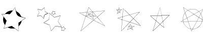 五角星字体(freaking stars)