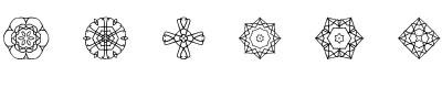 对称图字体(ji kaleidoscope)