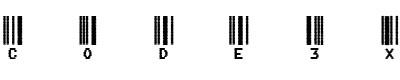 条码字体(code3x)