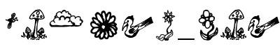 花与磨菇(Nature garden dingbats)
