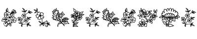 花字体(Nature traditional floral)