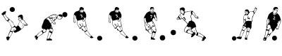 足球字体(soccer dance)