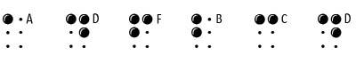 特色字体(braillelatin)