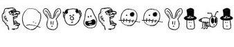 卡通头像字体(tombats smilies)