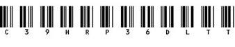 条码字体(c39hrp36dltt)
