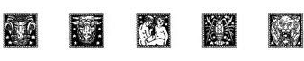 星座图案字体(ZODIAC02)
