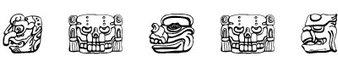 狮头图案字体(MAYAN)