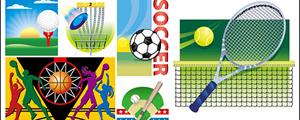 多项球类运动插图矢量图