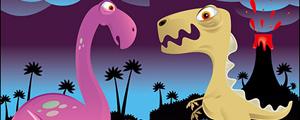 可爱恐龙插画矢量图