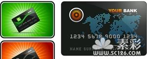 金融银行卡模板矢量图
